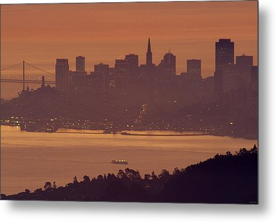 Sunrise Over San Francisco Metal Print