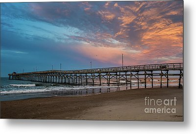 Sunset Over The Atlantic Metal Print by Scott and Dixie Wiley