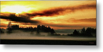 Sunrise Over The Cascades Metal Print by DMSprouse Art