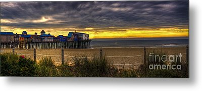 Sunrise Over The Empty Beach Metal Print