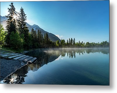 Metal Print featuring the photograph Sunrise Over The Mountain And Through The Tree by Darcy Michaelchuk