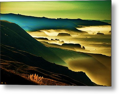Sunrise Over The Pacific Metal Print