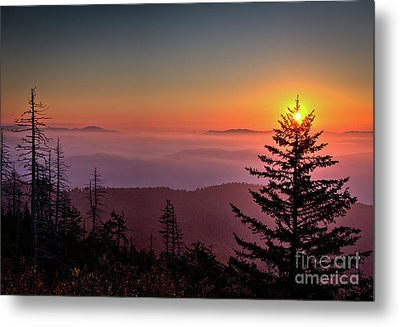 Metal Print featuring the photograph Sunrise Over The Smoky's IIi by Douglas Stucky