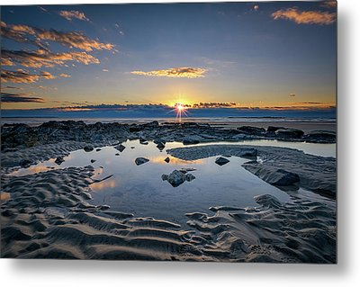 Metal Print featuring the photograph Sunrise Over Wells Beach by Rick Berk