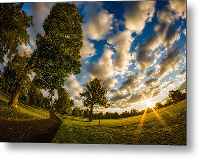 Metal Print featuring the photograph Sunrise Path At Meadows Edge by Chris Bordeleau