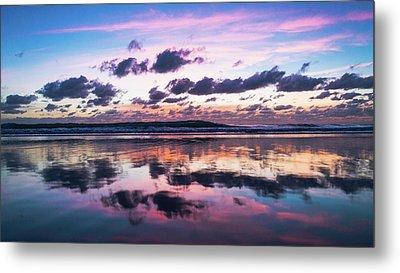 Sunrise Pink Wisps Delray Beach Florida Metal Print
