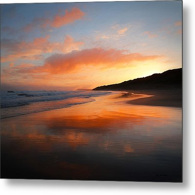 Sunrise Reflection Metal Print by Roy McPeak