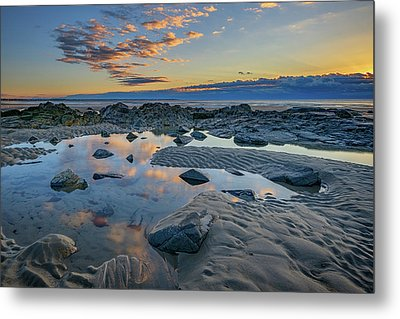 Metal Print featuring the photograph Sunrise Reflections On Wells Beach by Rick Berk