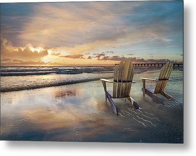 Metal Print featuring the photograph Sunrise Romance by Debra and Dave Vanderlaan
