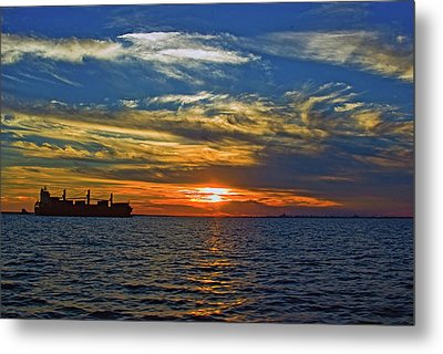 Sunrise Sail Metal Print