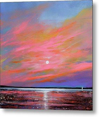 Sunrise Sail Metal Print by Toni Grote
