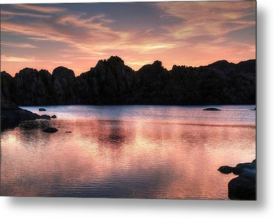 Sunrise Silhouettes Metal Print by Donna Kennedy