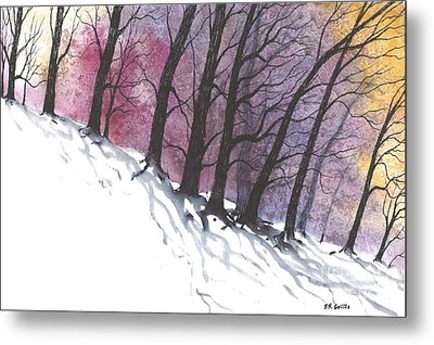 Sunrise Snow Metal Print
