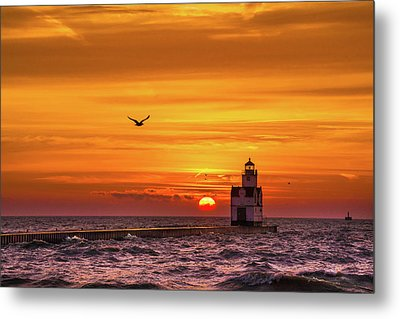 Metal Print featuring the photograph Sunrise Solo by Bill Pevlor