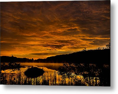 Sunrise Torpy Pond Metal Print