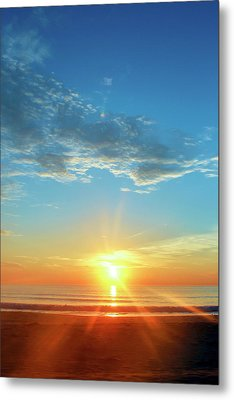 Sunrise With Flare Metal Print
