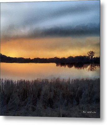 Sunrise On A Frosty Marsh Metal Print by RC deWinter