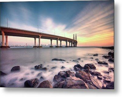 Sunset - Sea Link Metal Print by Brendon Fernandes