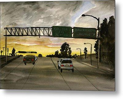 Sunset #28 Freeway Metal Print