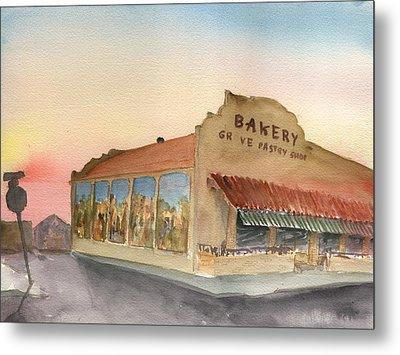 Sunset 38 Grove Pastry Shop Metal Print