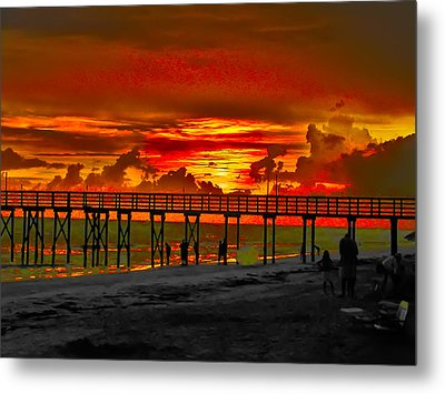 Sunset 4th Of July Metal Print by Bill Cannon