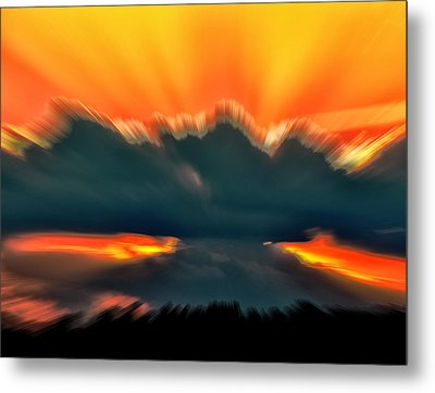 Sunset Abstract Metal Print by Chris Flees