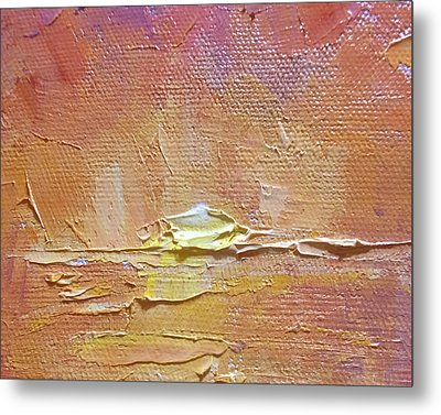 Sunset - Abstract Sun Setting Over The Ocean Metal Print by Karen Whitworth