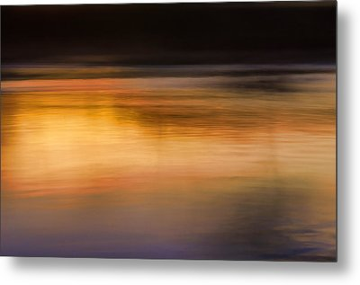 Sunset Abstraction Harpeth River Metal Print by Photo Captures by Jeffery