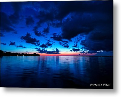 Sunset After Glow Metal Print by Christopher Holmes