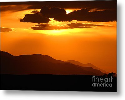 Sunset Along Colorado Foothills Metal Print by Max Allen