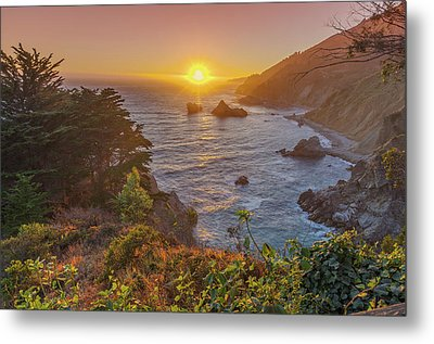 Metal Print featuring the photograph Sunset Along Highway 1 Big Sur California by Scott McGuire