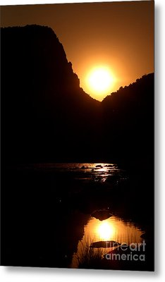 Sunset Along The Yampa River Metal Print by Max Allen