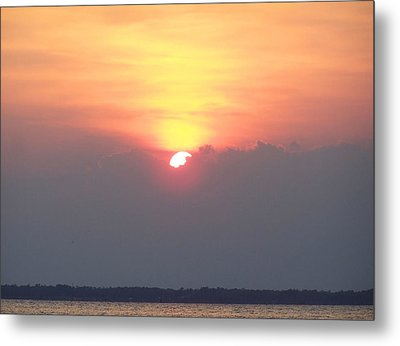 Metal Print featuring the photograph Sunset And The Storm by Sandi OReilly