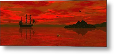 Sunset Arrival Metal Print