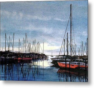Sunset At Apollo Beach Metal Print by Janet King