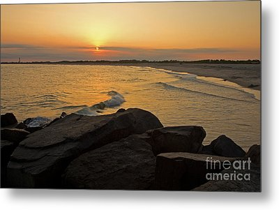 Sunset At Cape May Metal Print by Robert Pilkington