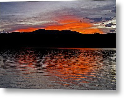 Sunset At Carter Lake Co Metal Print by James Steele