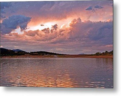 Sunset At Carter Lake Colorado Metal Print by James Steele