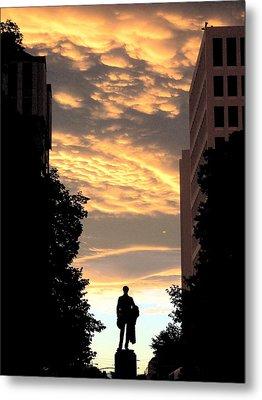 Sunset At Christchurch Metal Print