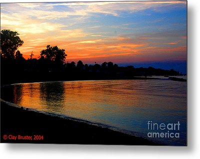 Sunset At Colonial Beach Cove Metal Print by Clayton Bruster