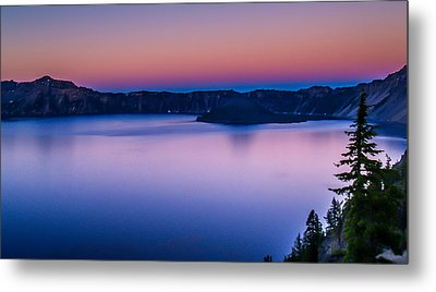 Sunset At Crater Lake Metal Print