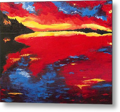 Sunset At Degray Metal Print by Beth Lenderman