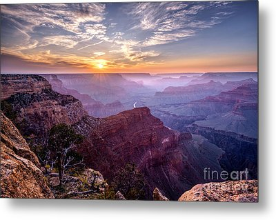 Sunset At Grand Canyon Metal Print