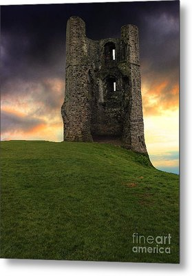 Sunset At Hadleigh Castle Metal Print
