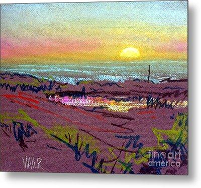 Sunset At Half Moon Bay Metal Print by Donald Maier