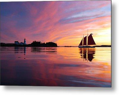 Sunset At Head Harbor Metal Print by Don Dunbar