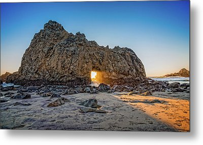 Sunset At Hole In The Rock Metal Print by James Hammond