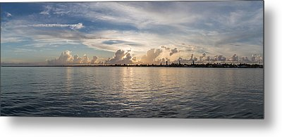 Sunset At Key Largo Metal Print by Christopher L Thomley