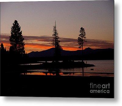 Sunset At Lake Almanor 02 Metal Print by Peter Piatt
