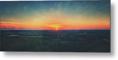 Metal Print featuring the photograph Sunset At Lapham Peak #3 - Wisconsin by Jennifer Rondinelli Reilly - Fine Art Photography